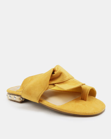 9fb8ae9284c Footwork Flavia Flat Sandals Mustard
