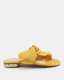 Footwork Flavia Flat Sandals Mustard
