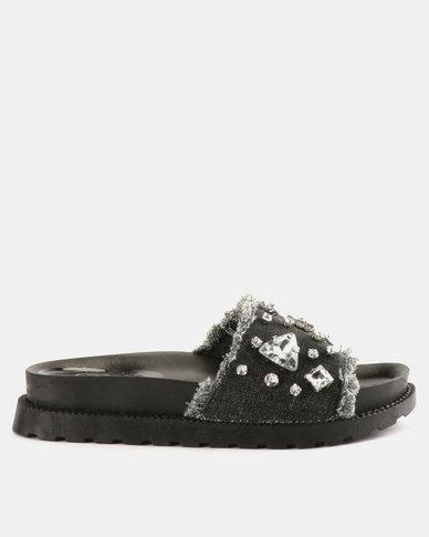 Footwork Minnie Flat Sandals Dark Denim