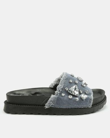 Footwork Minnie Flat Sandals Light Denim