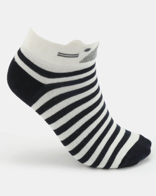 Women'secret Fashion Socks Marine Blue/White
