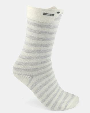 Women'secret Fashion Socks Grey/White