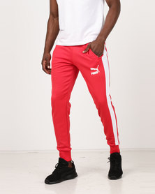 Puma Sportstyle Core Archive T7 Track Pants Ribbon Red