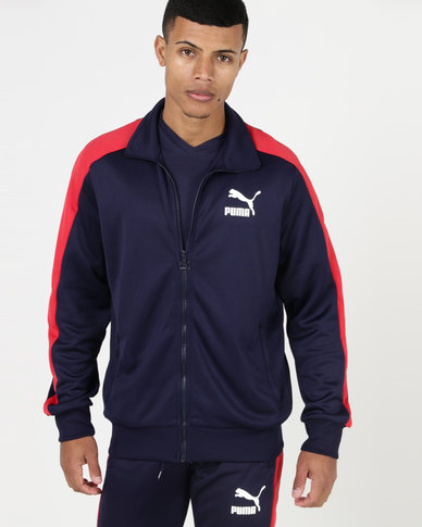 eb9924443284 Complete the look. Puma Sportstyle Prime Archive T7 Track Jacket Peacoat ...