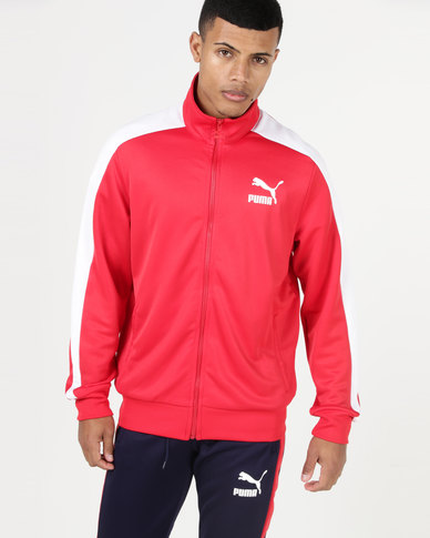 4fb3ad675ea1 Puma Sportstyle Prime Archive T7 Track Jacket Ribbon Red
