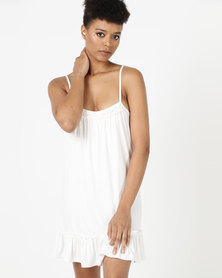 Lila Rose Frilly Knit Chemise Milk
