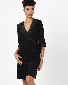 Lila Rose Short Lace Gown Black