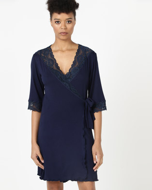 Lila Rose Short Lace Gown Navy