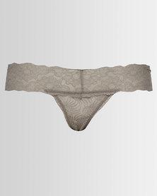 Lila Rose Low Rise Thongs Grey