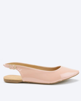 Whistles Patent Slingback Pumps Nude