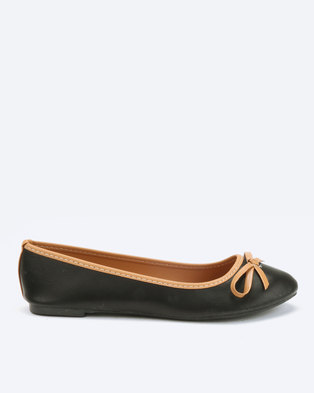 Utopia X Whistles Basic Bow Pumps Black