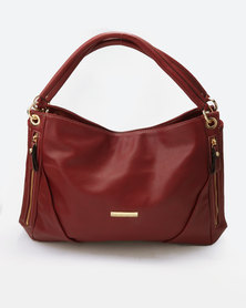 Blackcherry Bag Double Strapped Handbag Burgundy