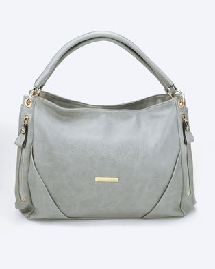 Blackcherry Bag Double Strapped Handbag Dove Grey
