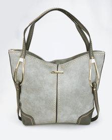 Blackcherry Bag Fashionable Handbag Grey