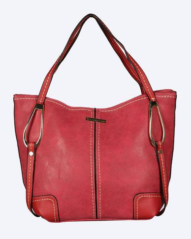 Blackcherry Bag Fashionable Scarlet Handbag Red