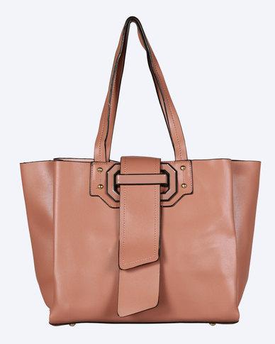 Blackcherry Bag Structured Handbag Dusky Pink
