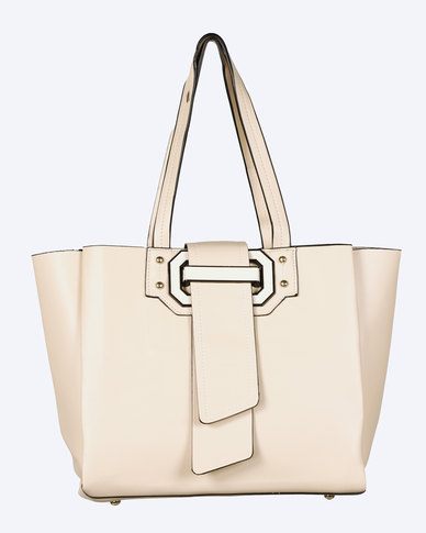 Blackcherry Bag Structured Tortilla Handbag Beige