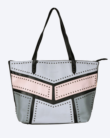 Blackcherry Bag Grey Shopper Bag Colour Block