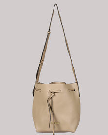 Blackcherry Bag Crossbody Bucket Bag Taupe