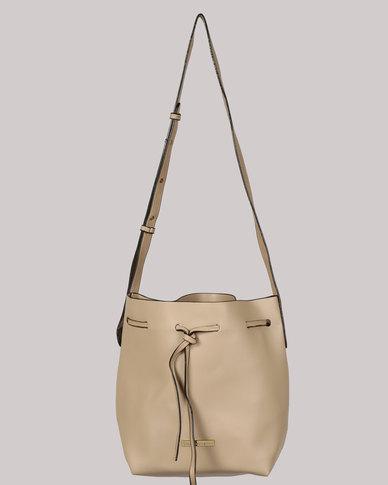 Blackcherry Bag Crossbody Bucket Bag Taupe