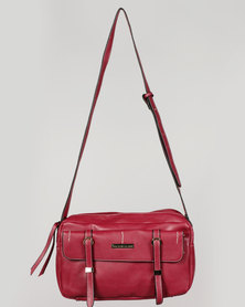 Blackcherry Bag Front Pocket CrossBody Bag Burgundy