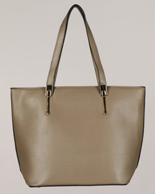 Blackcherry Bag Simple Shopper Bag Khaki