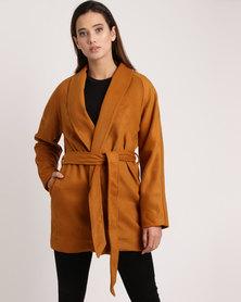 non-european® Kimono Coat Tobacco Rust
