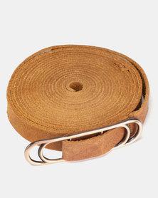 non-european® Wraparound Slider Belt Soft Tan & Copper