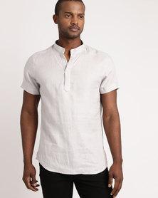 non-european® Mandarin Shirt Grey