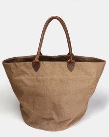 non-european ® Basket Bag Brown & Dark Brown