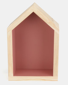 The Duck Egg Company Small House Shelf Pink