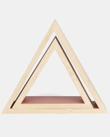 The Duck Egg Company 2 Piece Triangle Shelf Set