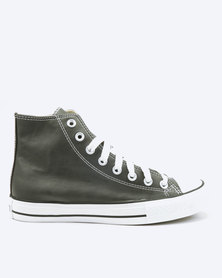 Soviet Viper Basic PU Hi Cut Lace Up Sneakers Charcoal