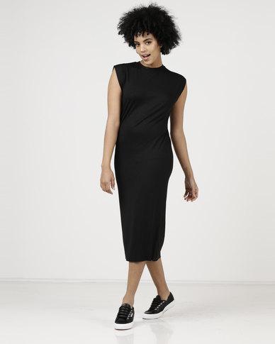 Paige Smith Sleeveless T-Shirt Dress Black
