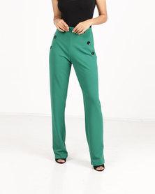 Paige Smith Straight Leg Pants Emerald