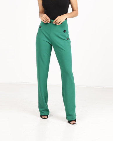 Paige Smith Straight Leg Pants Emerald