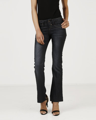 Utopia Flare Leg Jeans Dark Wash