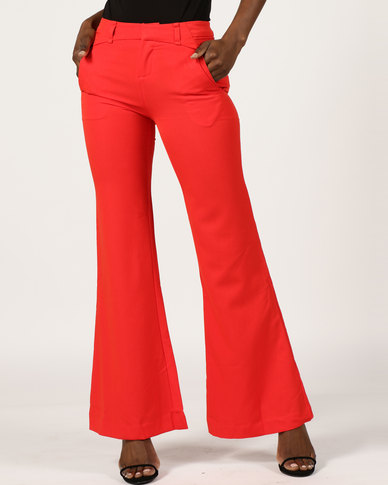 Utopia Wide Leg Pants Red