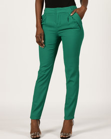 Utopia Straight Leg Trousers Green