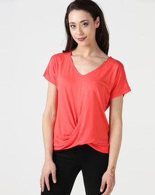 Utopia Knot Top Coral