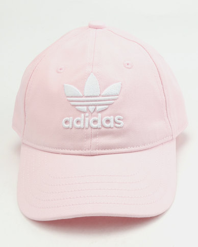 e488568757c adidas Originals Trefoil Cap Clear Pink White