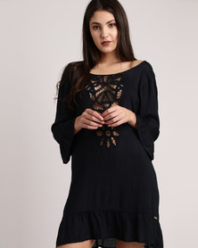 Roxy Goldy Soul Long Sleeve Dress
