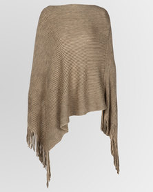 Blackcherry Bag Poncho Brown