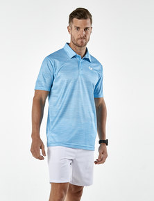 Custom Apparel Slub Golf Shirt - Blue