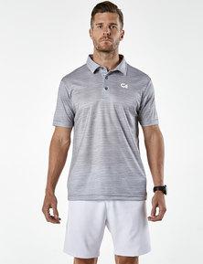 Custom Apparel Slub Golf Shirt - Grey