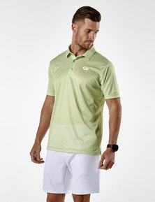Custom Apparel Slub Green Golf Shirt - Green