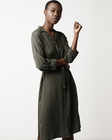 SassyChic Downtown Dress Khaki