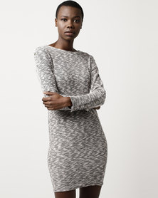 SassyChic Zoey Dress Salt and Pepper