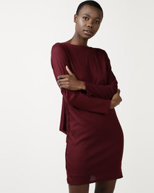 SassyChic Nadine Dress Burgundy