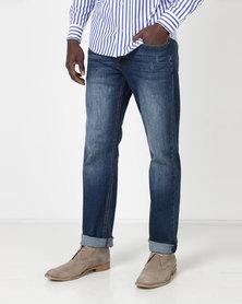JCrew Mid Abrasion Stretch Denim Jeans Indigo